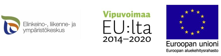 EUEA, VEU ja ELY logot Hupisaaretille